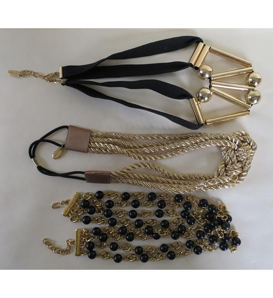 Black gold necklace