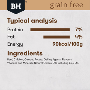 Black Hawk Dog Grain Free Beef 400gm