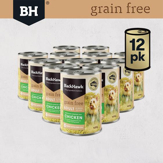 Black Hawk Wet Grain Free Chicken 400gm