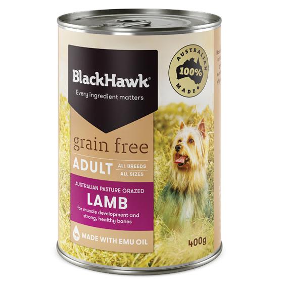 Black Hawk Wet Grain Free Lamb 400gm