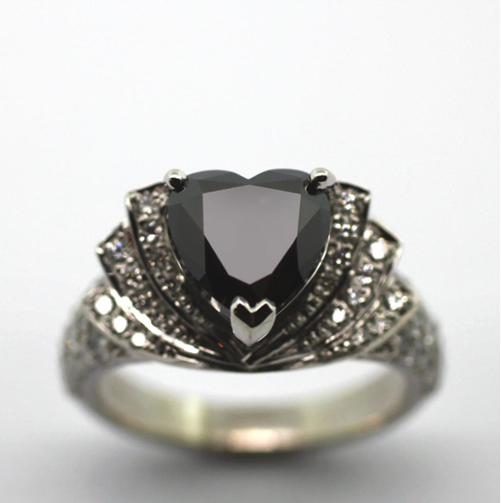 black-heart-diamond-ring