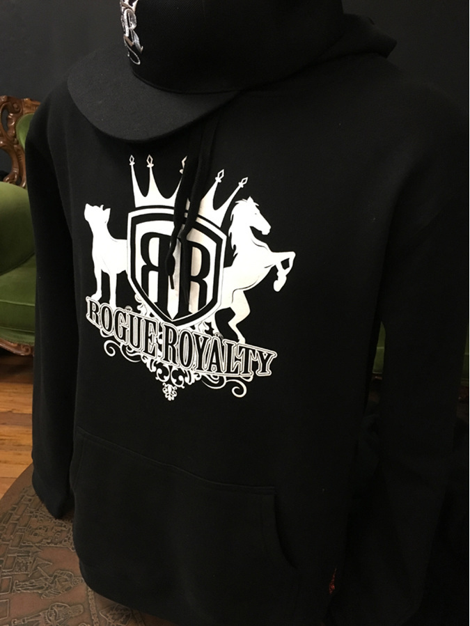 Black hoody with Rogue Royalty Emblem
