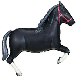 Black horse foil balloon