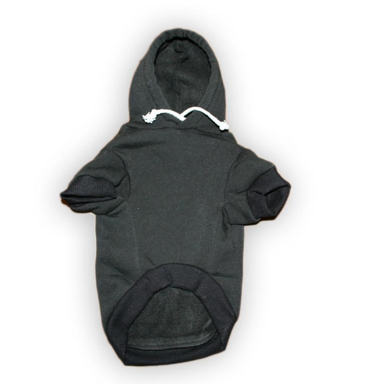 black jolly roger dog hoodie