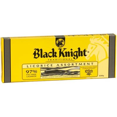 Black knight black licorice assortment - 250gms