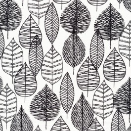 Black leaf fabric