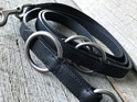 Black Leather Training Leash by Rogue Royalty