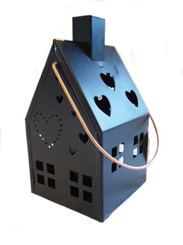 Black Metal Tealight House
