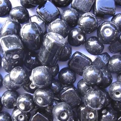 Black Plain Bead Mix