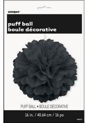 Black Puff Ball Decor - 40cm