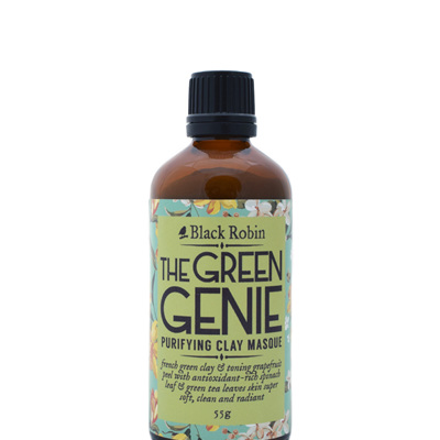 Black Robin Green Genie purifying clay masque