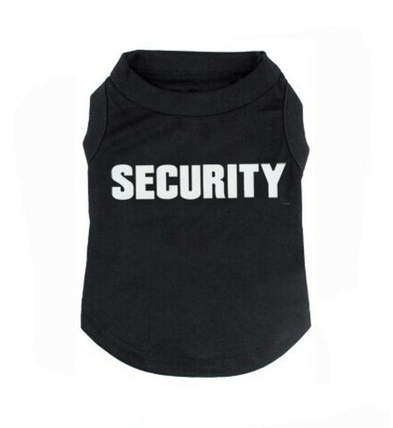 Black security dog