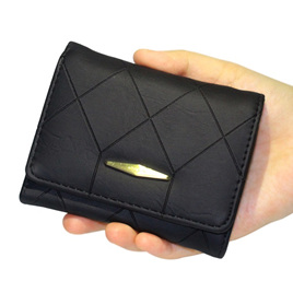 Black Short Indent Wallet