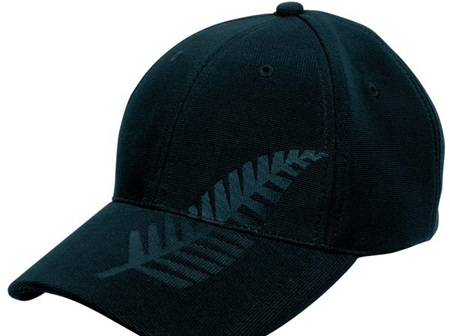 Black Silver Fern Cap