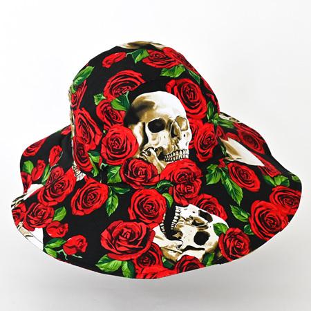 Black Skull Sombrero Hat - Adult size large