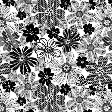 Black Tie Mod Flower 1494-19