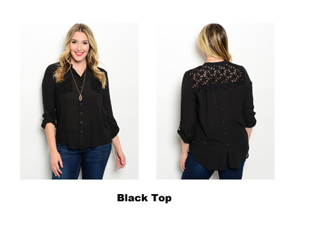 Black Top- avail in XL only
