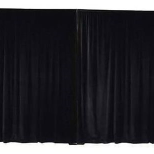 BLACK Wall Drape 3.60m Wide x 5.00m High max.