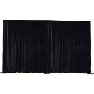 BLACK Wall Drape 3.60m Wide x 5.00m High max.