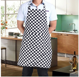 Black & White Check Apron