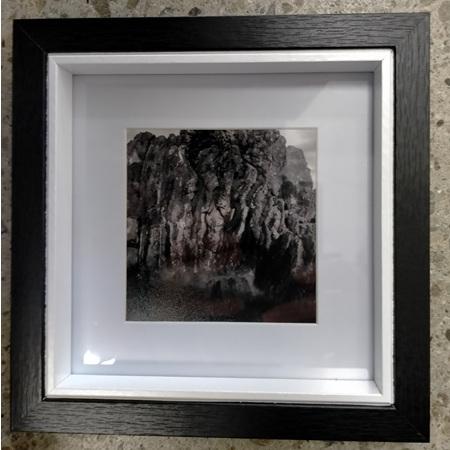 Black & White Rocks - Framed Photograph - 18.2 x 18.2cm