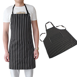 Black & White Striped Adults Apron