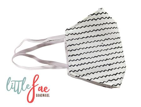 Black & White Striped Face Masks