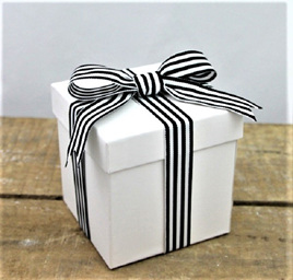 Black & White Yarn-Dyed Ribbon x 5 Metres