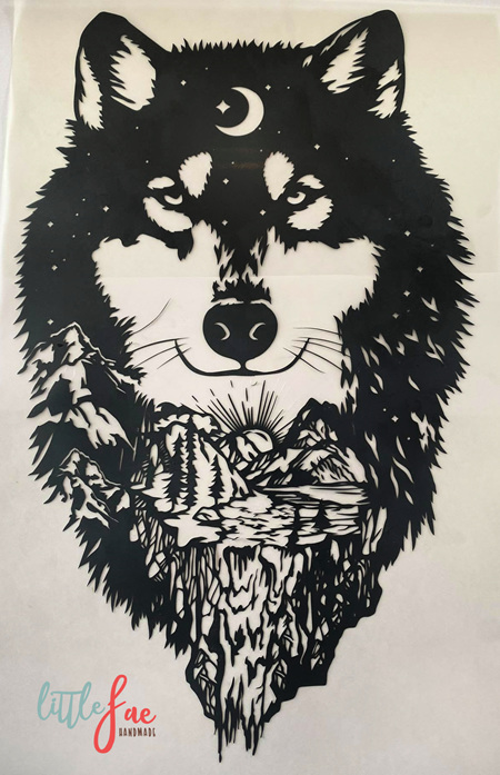 Black Wolf Heat Press Vinyl
