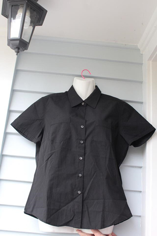 Black Womens Shirt - Size 8