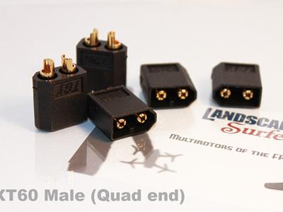 Black XT60 Male Connectors - 5 Pack