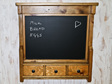 Blackboard and drawer wall unit