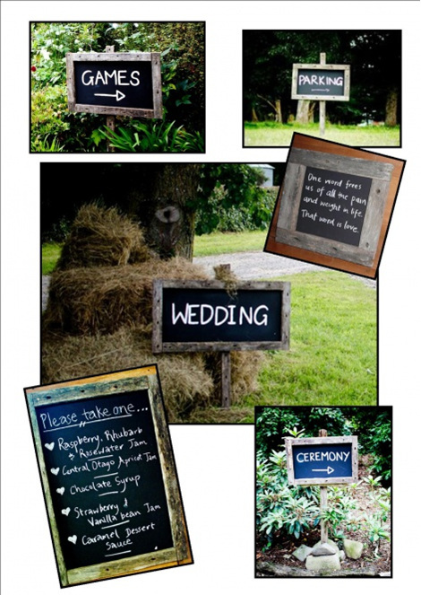 blackboard wedding and event hire