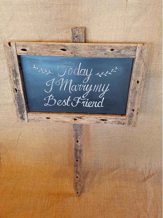 Blackboard wedding and event hire
