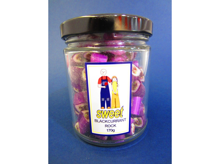 blackcurrant rock jar