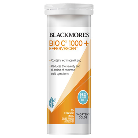 Blackmores Bio C 1000, Echinacea + Zinc, 10 Effervescent Tablets