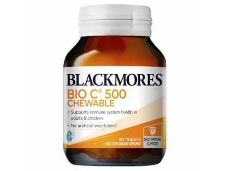 Blackmores Bio C 500mg Chewable Tablets (50)