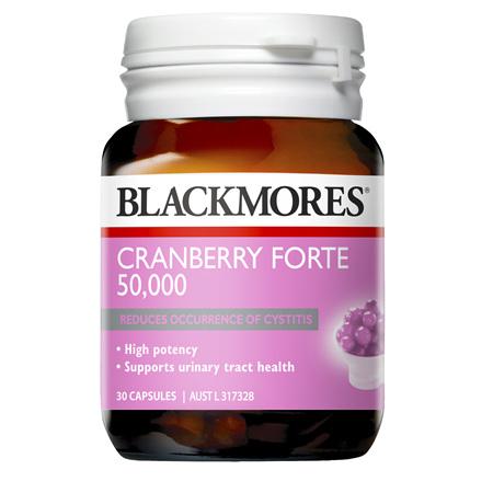 Blackmores Cranberry Forte 50,000, 30 Capsules (37332)