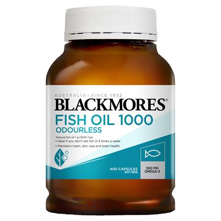 Blackmores Fish Oil 1000 Odourless, 400 Capsules (28931)