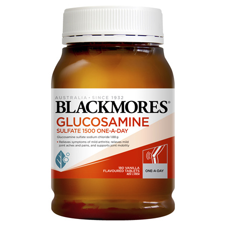 Blackmores Glucosamine Sulfate 1500 One-A-Day, 180 Tablets (28934)