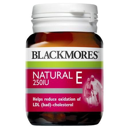 Blackmores Natural E 250IU, 50 Tablets (40030)