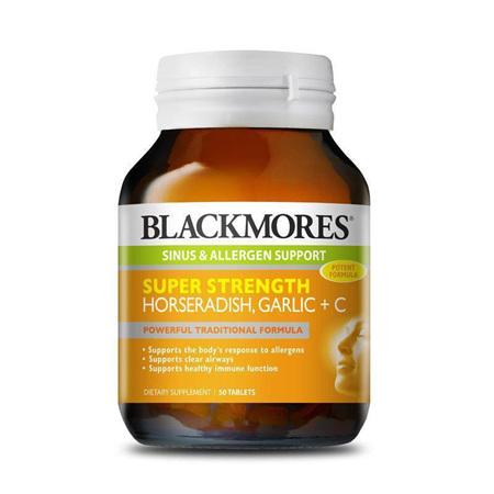 Blackmores Super Strength Horseradish, Garlic and Vitamin C 50 Tablets