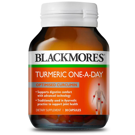 Blackmores Turmeric One-A-Day 30 Capsules
