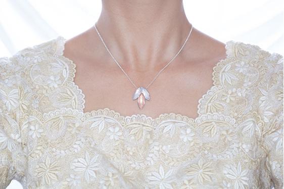 Blade, sterling silver, designer jewellery, pendant, rose gold, Lucence