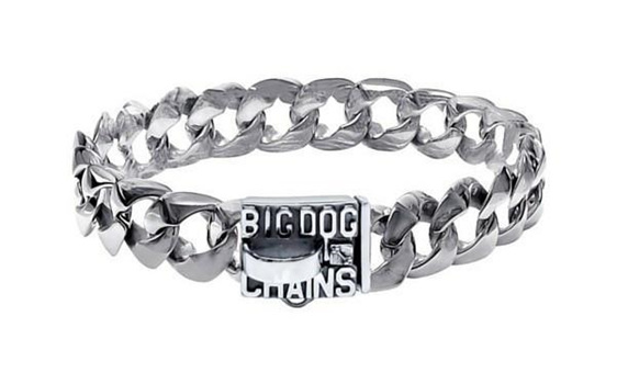Blanco Luxury Stainless Steel Dog Collar by Big Dog Chains