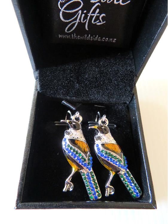 Blingy Tui earrings on sterling silver findings