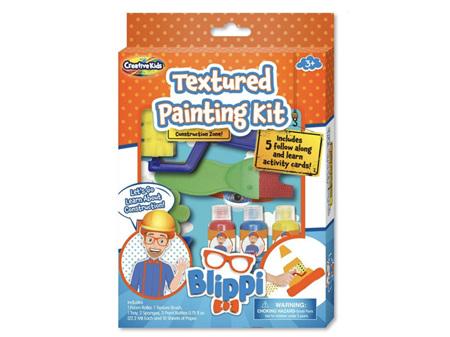 Blippi Textured Painting Kit