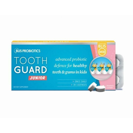 Blis M18 Tooth Guard Junior Probiotic 30 Lozenges defence for kids teeth gums.