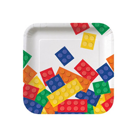 Block party lunch plates - 18cm