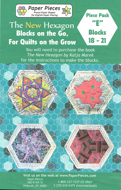 Blocks on the Go, For Quilts on the Grow - Piece Pack E